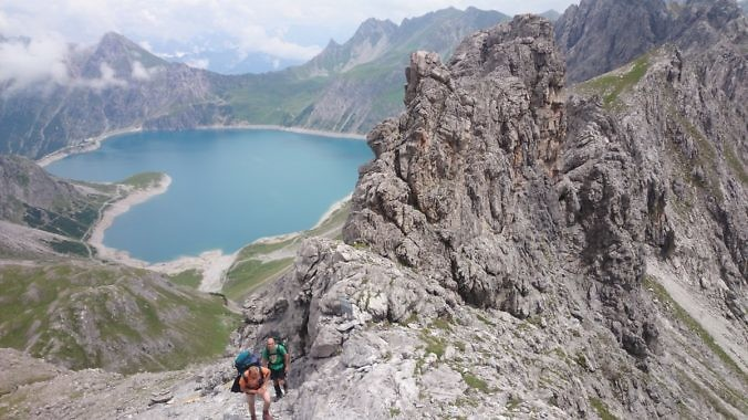 Klettersteig Lünersee : Wandern klettersteige u tortours